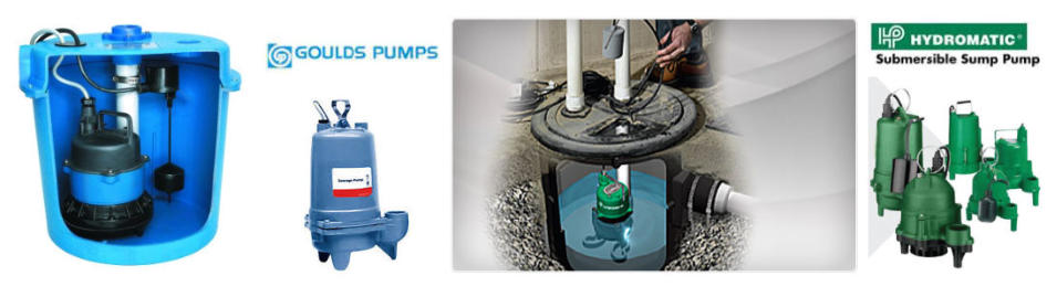 Goulds and Hydromatic sump pump installation.